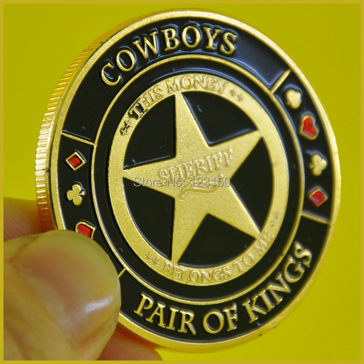 JZ-090 Diameter 40MM,Card Protector, Texas Holdem Accessories, COW BOYS