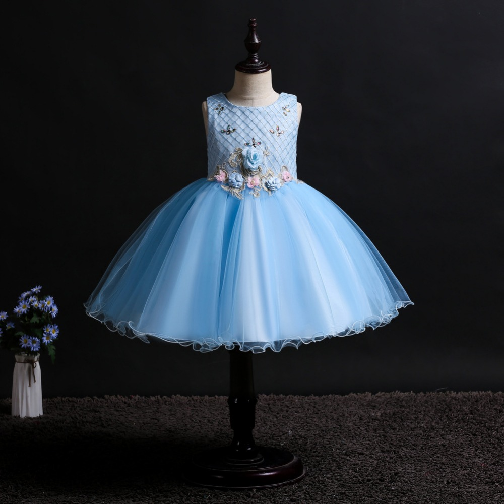 Flower     girl     dress   for Kids Tutu Birthday Party   Dress   for   Girls   Infant Beaded Children Bridesmaid   Dress   baby   Girls   Clothes