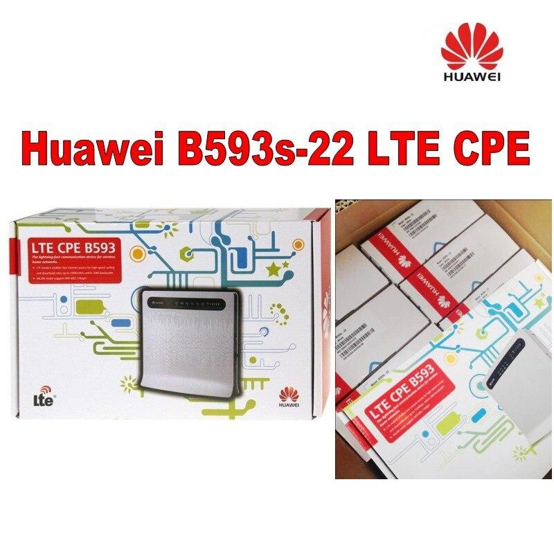 Lot of 50pcs 2pcs External Antenna+Huawei 150Mbps B593S-22 LTE 4G CAT 4 WiFi router,DHL shipping lot of 50pcs zte mf275r turbo hub dhl delivery