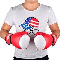 ציוד אימון MMA קיקבוקסינג כפפות אגרוף PU מותג SUTENG כפפת Sanda לחימה כפפות Sandbag עיצוב העליון לבן