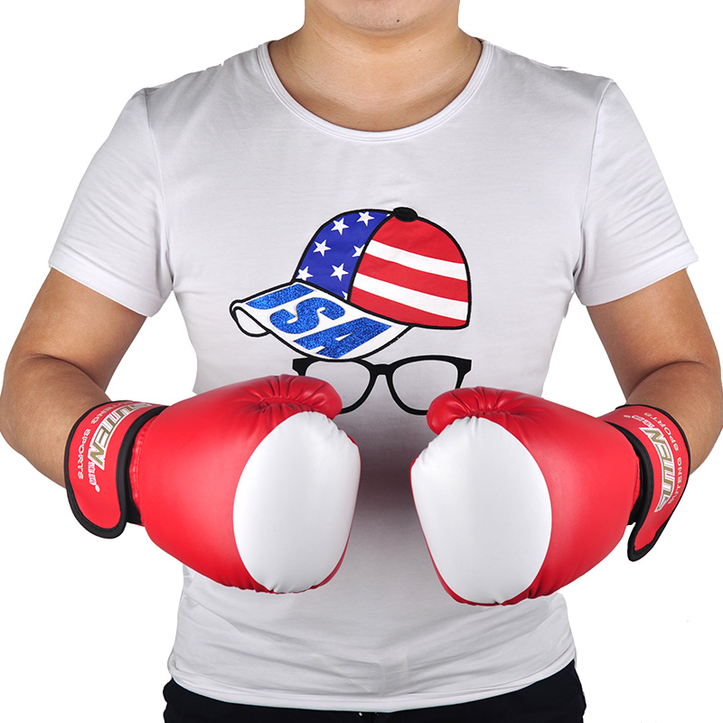 Brand PU Boxing font b Gloves b font Kickboxing MMA Training equipment Fighting Sandbag font b