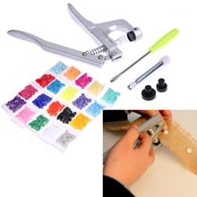 Металлические плоскогубцы, набор инструментов для T3, T5, T8, Kam, кнопочные плоскогубцы+ 300 шт., T5, пластиковые полимерные кнопки