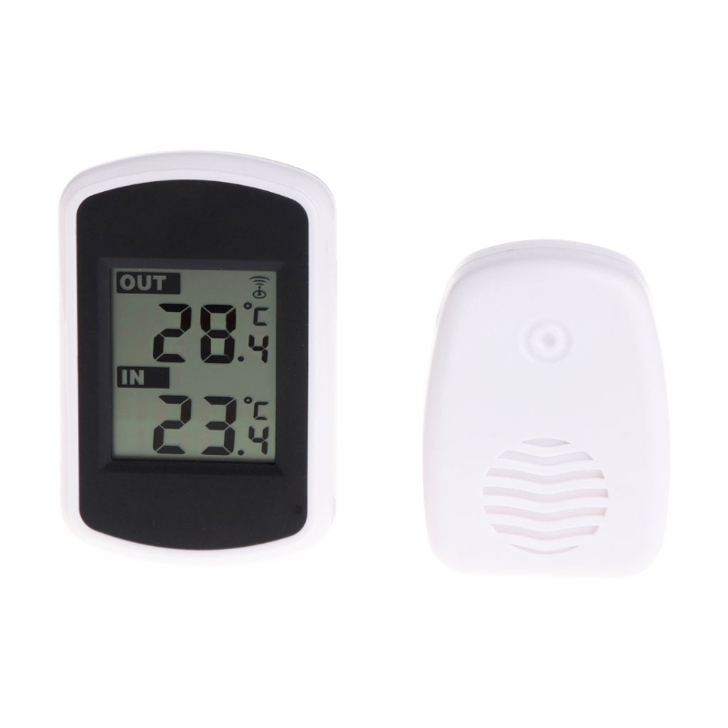433MHz LCD Digital Wireless Ambient Weather Station Indoor Outdoor Thermometer L15