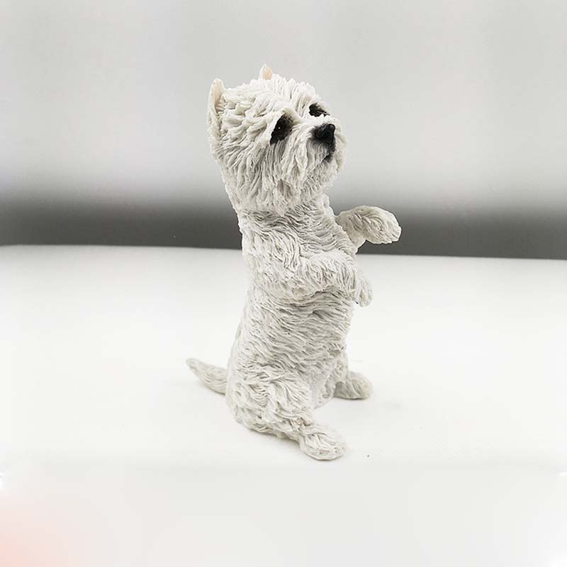 Mnotht 1/6 West Highland Terrier Perro Animal Postura Modelo de - Figuritas de juguete - foto 2