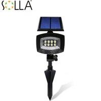 SOLSOLAR 400lumen Outdoor Led Solar Light Patios Decks Pathways Stairways Security Solar Lamp LED Outdoor Garden
