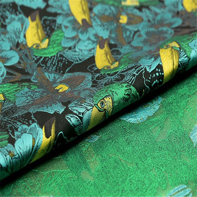 SASKIA 1Meter Floral Jacquard Brodace Fabric 65 quot Wide Green Polyester Cotton Material Sewing On Dress Clothes Coats Patchwork Diy in Fabric from Home amp Garden