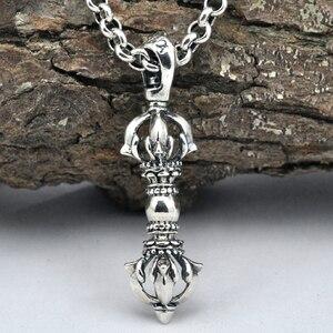 Image 1 - 100% Echt 925 Sterling Zilveren Vajra Hanger S925 Solid Thai Zilveren Hanger Voor Kettingen Mannen Vrouwen Sieraden CP06
