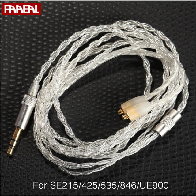 faaeal 1 2m weaving silver plated gold mmcx plug diy weave headphone rh aliexpress com A New Plug Wiring Wall Plug Wiring