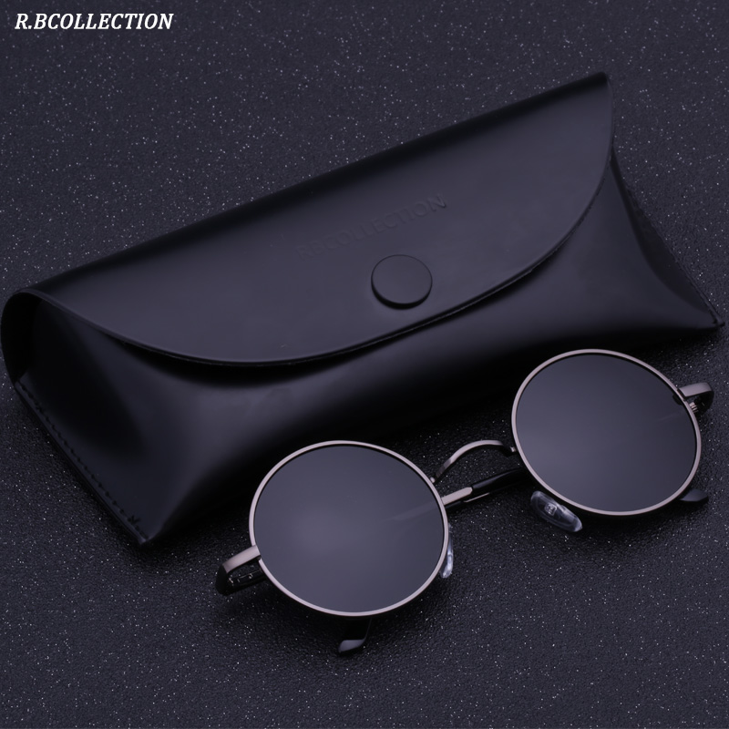 463ac85067f Black Metal Polarized Sunglasses Gothic Steampunk Sunglasses Mens Womens  Fashion Retro Small Vintage Round Eyewear Shades