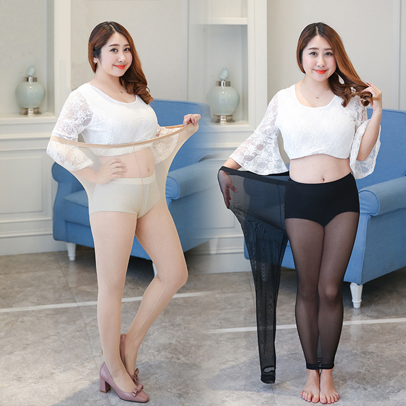 Plus Size Super Stretchy Women Tights Thin Transparent ...