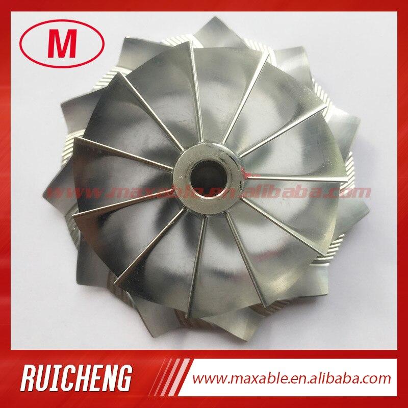 GT25 445436-0001 46,52/60,13 мм 11 + 0 лезвия высокая производительность турбо заготовка/Фрезерование/алюминий 2618 компрессор колеса для 465949-0001