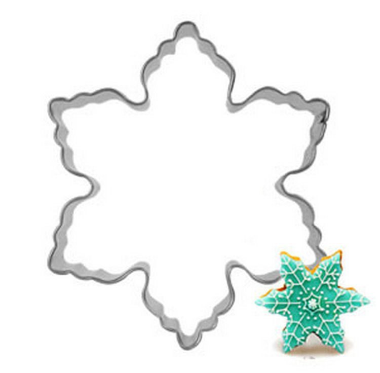 Snowflake stainless steel cute cutting biscuit mould cake moulds fruit sugar mold baking tools