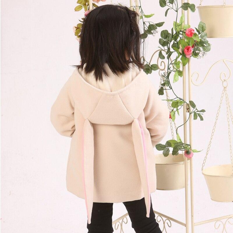 Ins Новая зимняя куртка для девочек Хлопковое весенне-осеннее пальто в стиле кролика для маленьких девочек детские куртки детское пальто для...