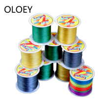 OLOEY Braided Wire Fishing Line 4 Strands 100M PE Multifilament Braided Japan Super Strong Fishing Line Carp Fishing Rope Cord