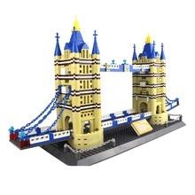 Wange Great models London Bridge Building Block Sets Educational DIY Bricks Toys
