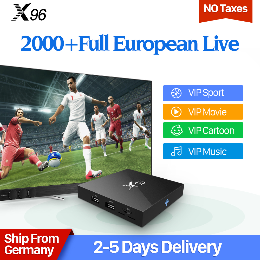 X96 Android 6.0 Smart TV Box 4K Movie Albania EX-YU Sports IPTV IUDTV Subscription Arab French Sweden Europe IPTV Top Box movie iptv