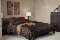 Роскошный черный леопард печати наборы постельных принадлежностей постельное белье Из Египетского хлопка король размер королева одеяло д...