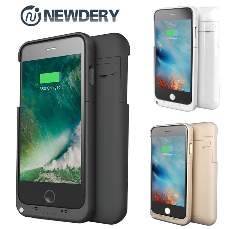 imágenes para EE. UU. RU Nave NEWDERY 4800/3200/2200 mAh banco de la Energía Externa de reserva del paquete caso Del Cargador de batería para iphon 5 5S SE 6 6 s Plus