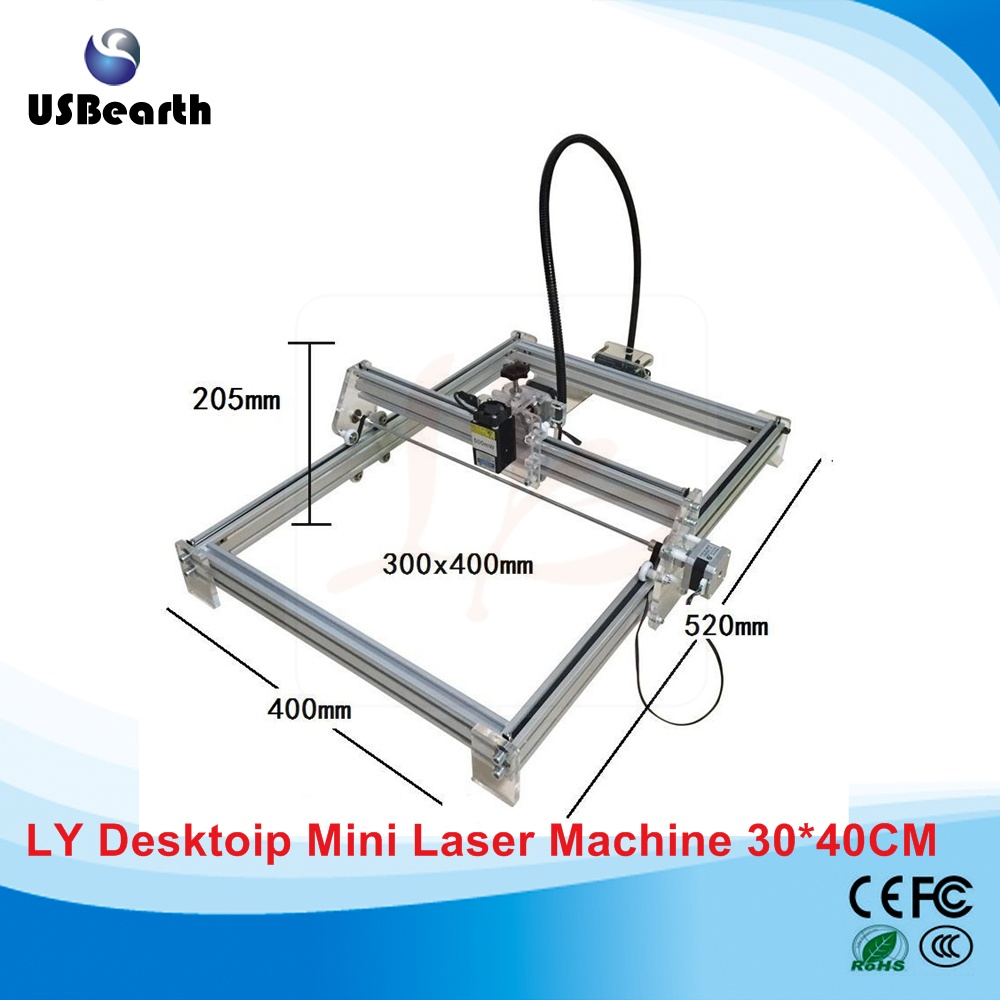 Disassembled LY 3040 Blue Violet Laser Engraver 500mw Mini DIY Laser Marking machine Carving Size 30*40CM 3040 co2 laser engrave machine laser marking machine cut plywood 50w laser free shipping