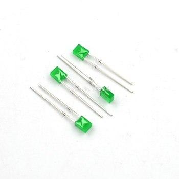 100 sztuk/partia 2X3X4 plac LED dioda emitująca światło zielone 2*3*4mm dioda LED
