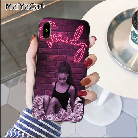 MaiYaCa Thank U, Next Ariana Grand TPU black Phone Case Cover Shell for Apple iPhone 8 7 6 6S Plus X XS MAX 5 5S SE XR Cover Lahore