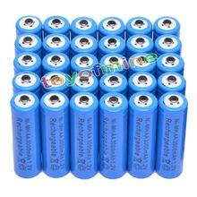4/10/20 Вт, 30 Вт/48 шт. AA 3000 мАч никель-металл-гидридная аккумуляторная батарея 2A LR6 синий