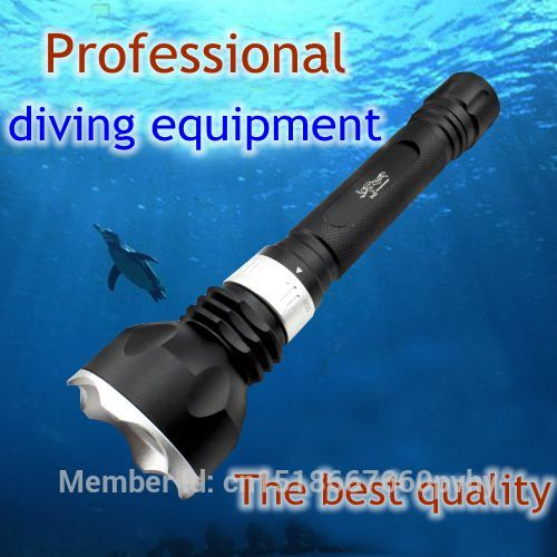 High quality underwater diving torch T6 font b led b font diving font b flashlight b