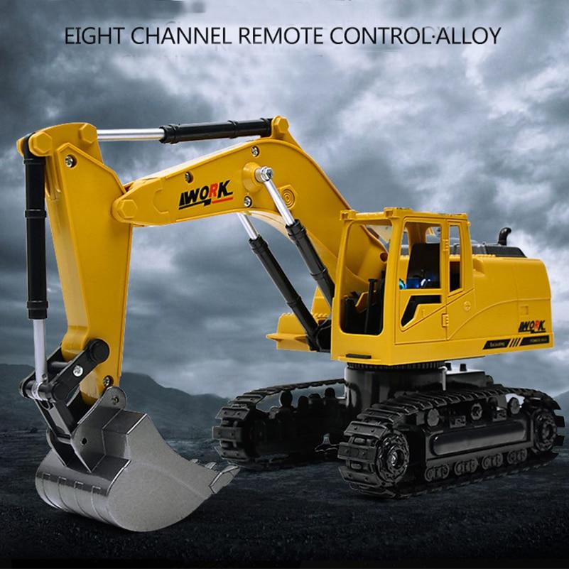 2.4G 8 CH Alloy RC Excavator სატვირთო - დისტანციური მართვის სათამაშოები - ფოტო 6