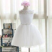 Дешевые женские платья длиной до колен, белые кружевные фатиновые Платья с цветочным узором для девочек, платья с жемчугом для первого причастия для девочек, пышные платья