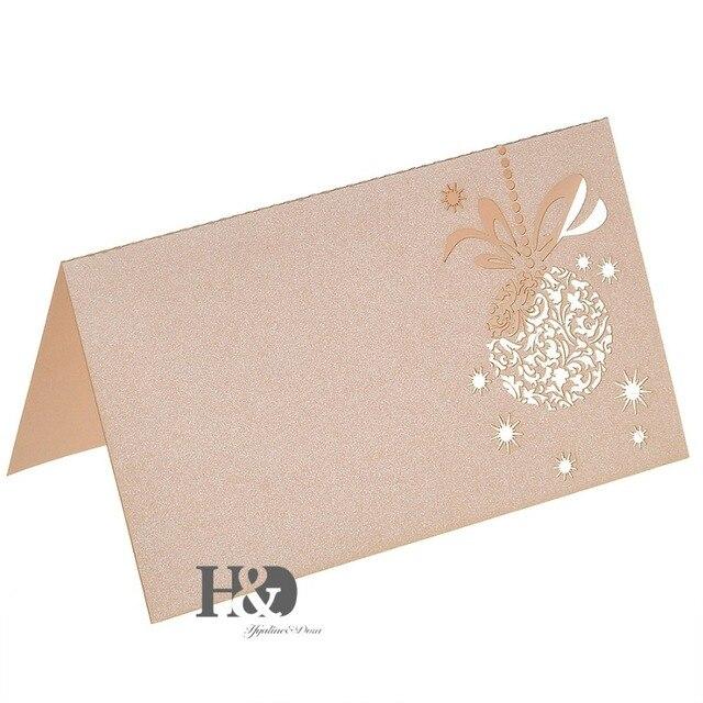 beige laser cut paper flower 120pcs name place cards wedding
