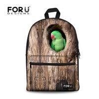 Parrpt Children School Shoulder Bags Cute Owl Birds Printing Backpack for Boys Kids Big Bookbag Teen Schoolbag mochila 16 inch
