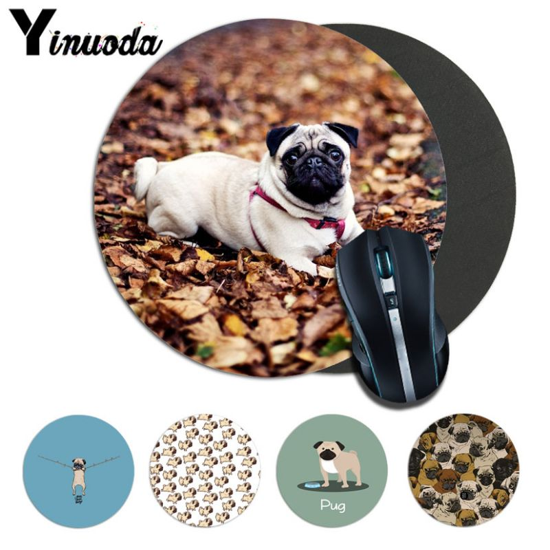 Yinuoda pug dog cartoon Computer Gaming Lockedge Mousemats Size for 200*200*2mm and 220* ...