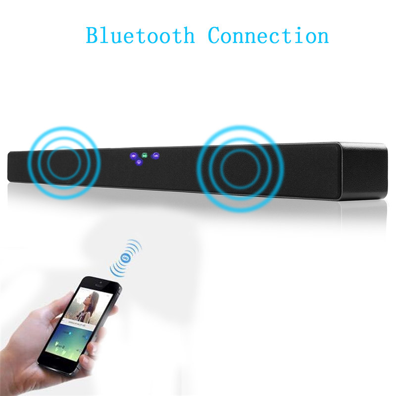Automatically TV Speaker System Bluetooth 4.0 Soundbar 3D Audio Sound Bar Wall Home Theater Bass Speaker with Remove Control rotibox mini soundbar ultra compact portable mutimedia wireless stereo bluetooth speaker hifi powerful crystal sound with balacne audio deep bass cinema surround sound aux connection for outdoor sports play home audio
