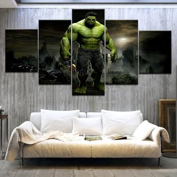 5 pcs Hulk Canvas painting