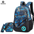 OZUKO New Men Fashion School Bags Backpack Laptop Bag Student Men Backpack for Teenager Boys Girls College Luminous Mochila 2018