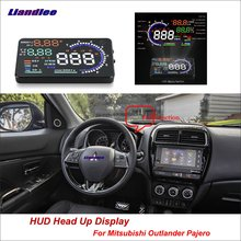 Liandlee Car Head Up Display HUD For Mitsubishi Outlander Pajero 2012-2018 HD Projector Screen Overspeed Alert Alarm Detector