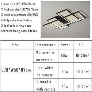 Image 5 - โคมไฟเพดาน LED โมเดิร์นสำหรับห้องนั่งเล่นห้องนอนห้องรับประทานอาหารโคมไฟ LED โคมไฟระย้าโคมไฟเพดานโคมไฟ Home Lighting