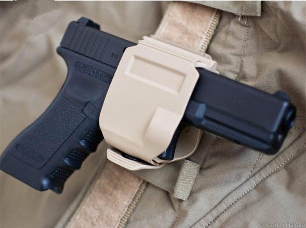 CP estilo pistola G17 funda GLOCK 19 23 Tactical Airsoft Paintball ar15 accesorios caza tiro Roto derecha pistola clip