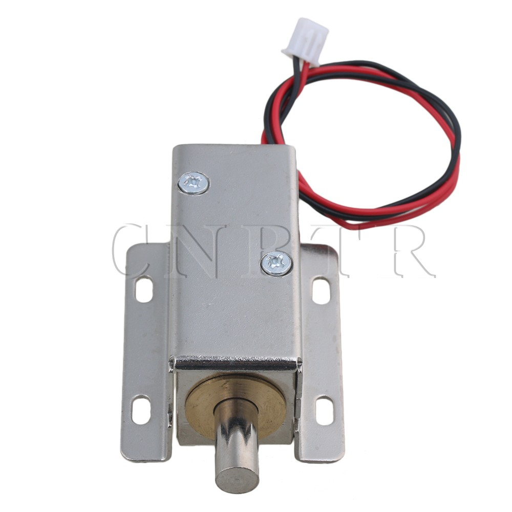 CNBTR Silver DC24V 0.6A 10mm Stroke TFS-A21 Cabinet Door Electric Lock Assembly Solenoid Round Head Latch jd 57 1 14 truck head latch assembly