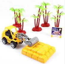 лучшая цена 1pcs Cute Mini Construction Bulldozer Excavator Engineering Vehicle Children Car toys Free shipping