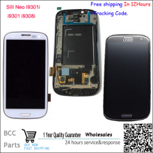 4.8″ Original Lcd Display Screen+Touch Glass+Frame Assembly For samsung galaxy SIII s3 Neo i9301 i9300i i9308i Blue/White Test