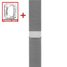 milanese loop watch band For Apple watch band 42/38mm&for apple watch 4 band 40mm 44mm Replace bracelet for iwatch Series 1 2 3 цена и фото