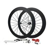 Free Tax Full Carbon Wheels 50mm Clincher Road Bike Wheelset 25mm Bicycle Wheels 1432 Spokes 700C Wheelset Powerway Novatec Hub