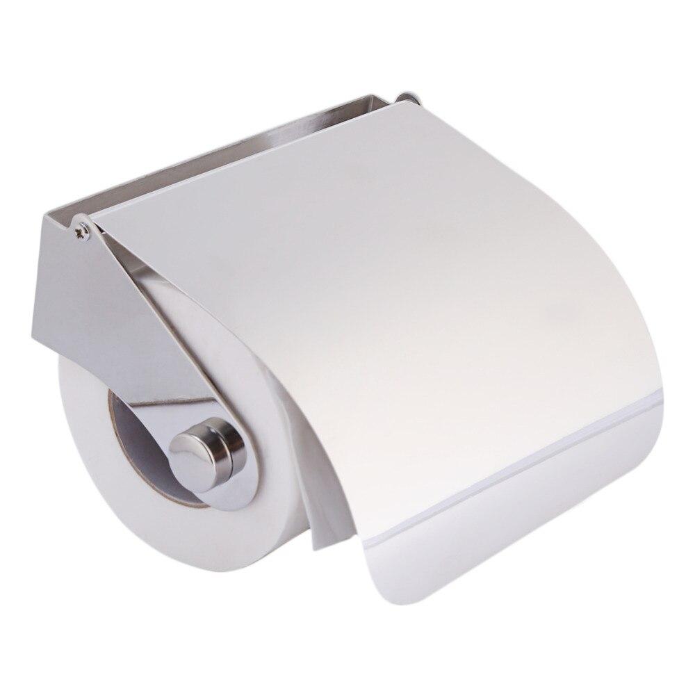 Stainless Steel Toilet Roll Holder Part - 19: Modern Stainless Steel Toilet Paper Holder With Srews Tissue Toilet Roll  Holder Paper Holder Box Bathroom