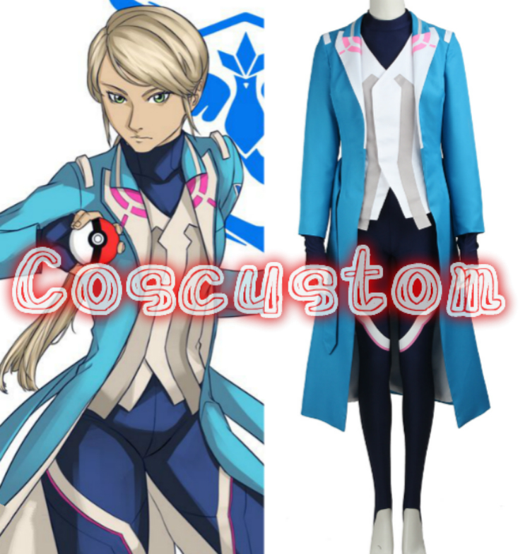 Coscustom High Quality Pokemon Go Team Mystic Blanche Costume Custom Made Halloween Cosplay Costume