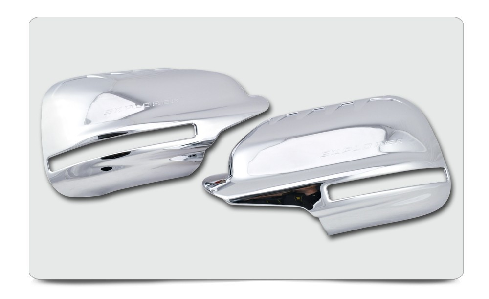 ABS Plating Chrome Mirror Cover For Ford Explorer 2012 2013 FULL With Turn Signal Light Cutout For North And South American d