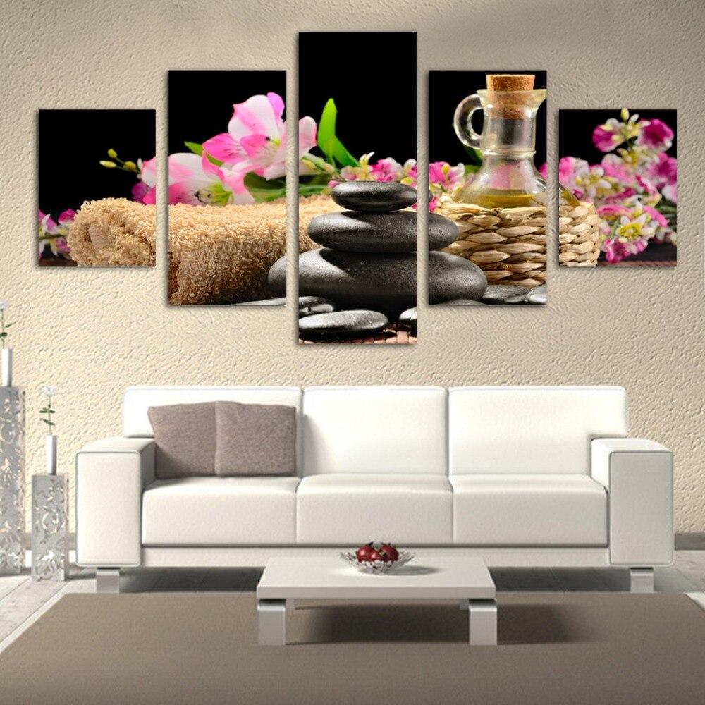 Modes 5 gab. / Partijas Modernie ziedu un akmens gleznojumi Liela - Mājas dekors