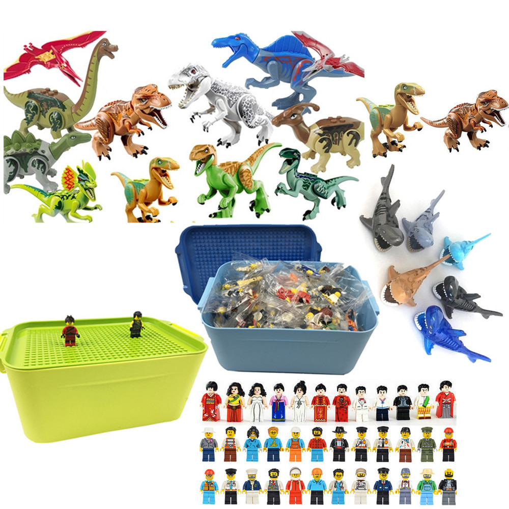 DIY Building Bricks Toys Military Mini Ninjago Figures Compatible Blocks Toys Dinosaurs For Kids Birthday Gifts with Plastic BoxDIY Building Bricks Toys Military Mini Ninjago Figures Compatible Blocks Toys Dinosaurs For Kids Birthday Gifts with Plastic Box