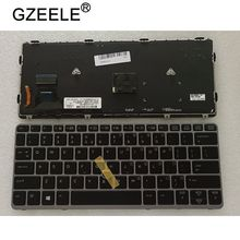 QHแล็ปท็อปใหม่สำหรับHP EliteBook 820 G1 820 G2 720 G1 720 G2 725 G2 Backlightพร้อมจุดBacklit Silver Frame
