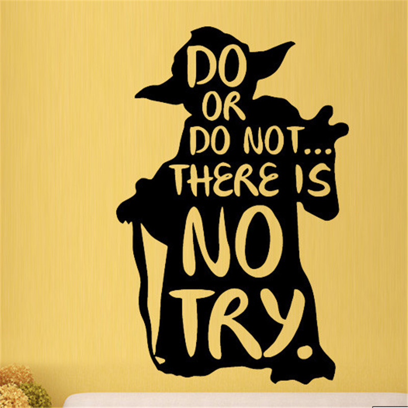Do or Do Not Yoda Star Wars Film Wall Art Stickers Decals Vinyl Home Room Decor Home decoration wall stickers image
